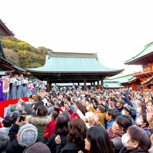 Setsubunsai at Shizuoka Sengen Shrine