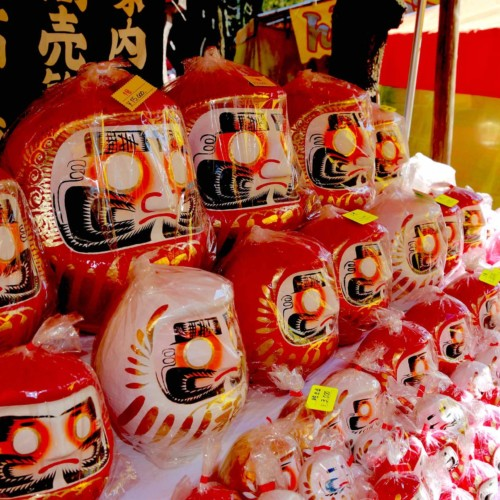 Daruma Doll Fair at Ganzandaishi